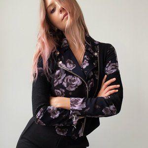 Aritzia Floral Moto Jacket